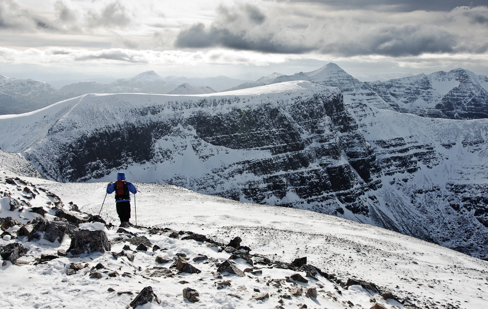 Photo of the Day - www.letsbewild.com - Colin Henderson - Walking in the Scottish Highlands, from the summit of Beinn Eighe