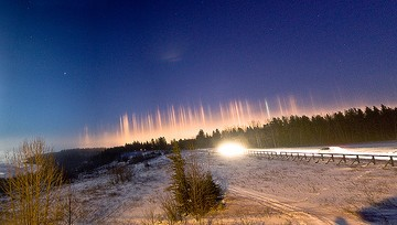 Adventure Travel Photo of the Day - www.letsbewild.com - Ice Light Pillars - Karl Johnston