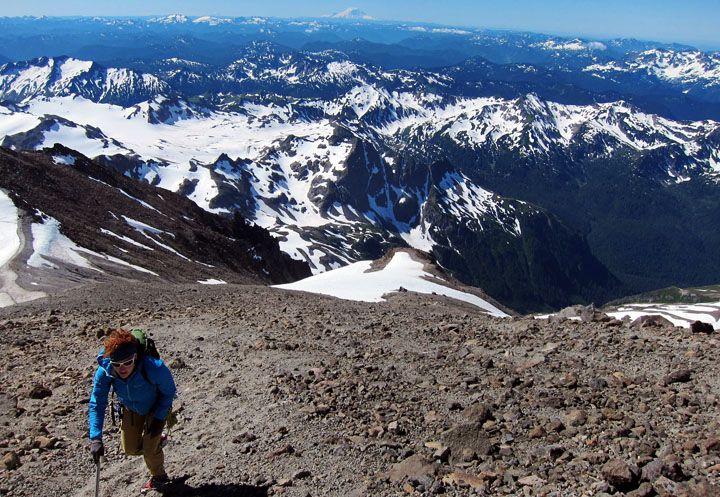 Climbing in Glacier Peak Wilderness