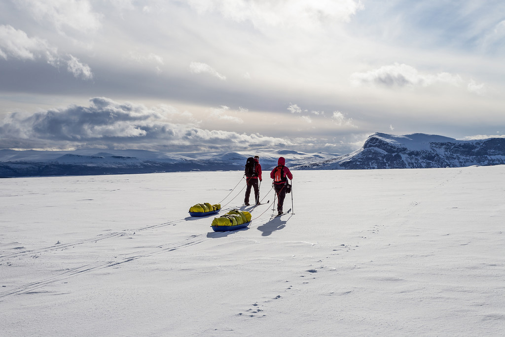 Adventure Travel Photo of the Day - www.letsbewild.com - Skiing into Sarek, Sarek National Park, Lapland, northern Sweden - photograph by Greg Annandale