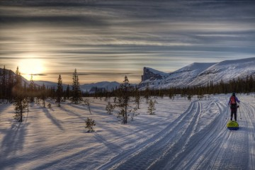 Adventure Travel Photo of the Day - www.letsbewild.com - Sunset over Sarek, Sarek National Park, Lapland, northern Sweden - Greg Annandale