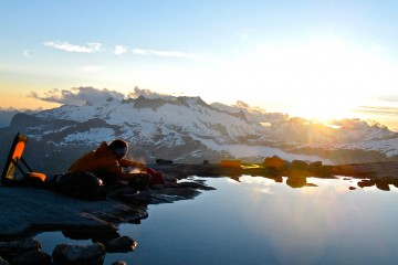 Adventure Travel Photo of the Day - www.letsbewild.com - High Altitude Dinner, Coast Range, British Columbia, Canada - Jessie Rhodes