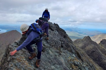Adventure Travel Photo of the Day - www.letsbewild.com - Clinging to the Cuiilins, Isle of Skye, Scotland - Ian McIntosh