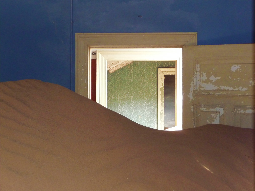 Adventure Travel Photo of the Day - www.letsbewild.com - Dune Inside, Kolmanskop, Namibia - Arlette Leboucq