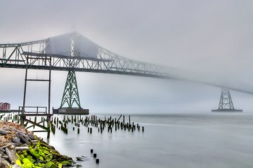 Adventure Travel Photo of the Day - www.letsbewild.com - The Foggy Span, Astoria, Oregon, United States - Tatyana Druz