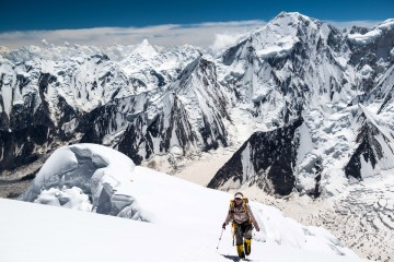 Adventure Travel Photo of the Day - www.letsbewild.com - Cruising Above Camp 3, Spantik, Haramosh Valley, Baltistan, Pakistan - Brad Jackson