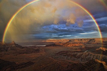 Adventure Travel Photo of the Day - www.letsbewild.com - Double Rainbow, Dead Horse Point State Park, Utah, United States - Chris Higgins