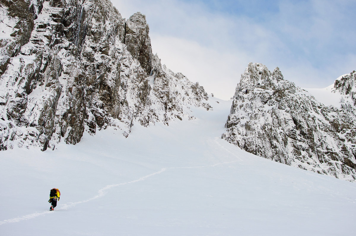 Wild World: Scottish Winter climbing - Dorsal Arete, Stob Coire nan Lochan, Glen Coe