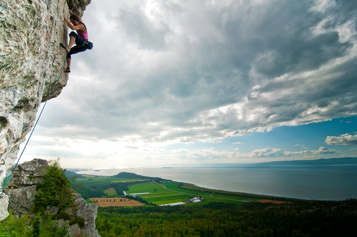 Rock Climbing in Kamouraska, Quebec - Alain Denis