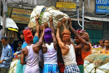 Workers in Kolkata, India