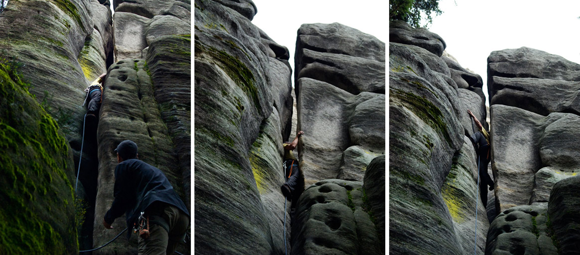 Rock Climbing in Adršpach-Teplice, Czech Republic