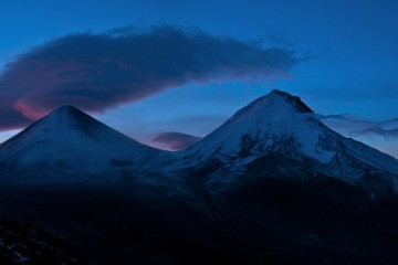 Adventure Travel Photo of the Day: Sunrise over Klyuchevskaya Sopka and Kamen