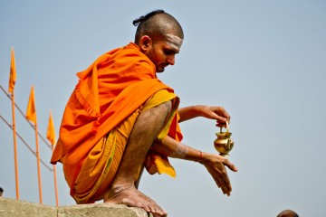 Hindu Monk along the Ganges