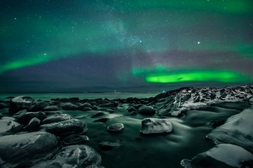Photo of the Day: Aurora Borealis over Bleik, Norway