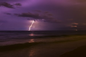 Lightning Storm over the Atlantic