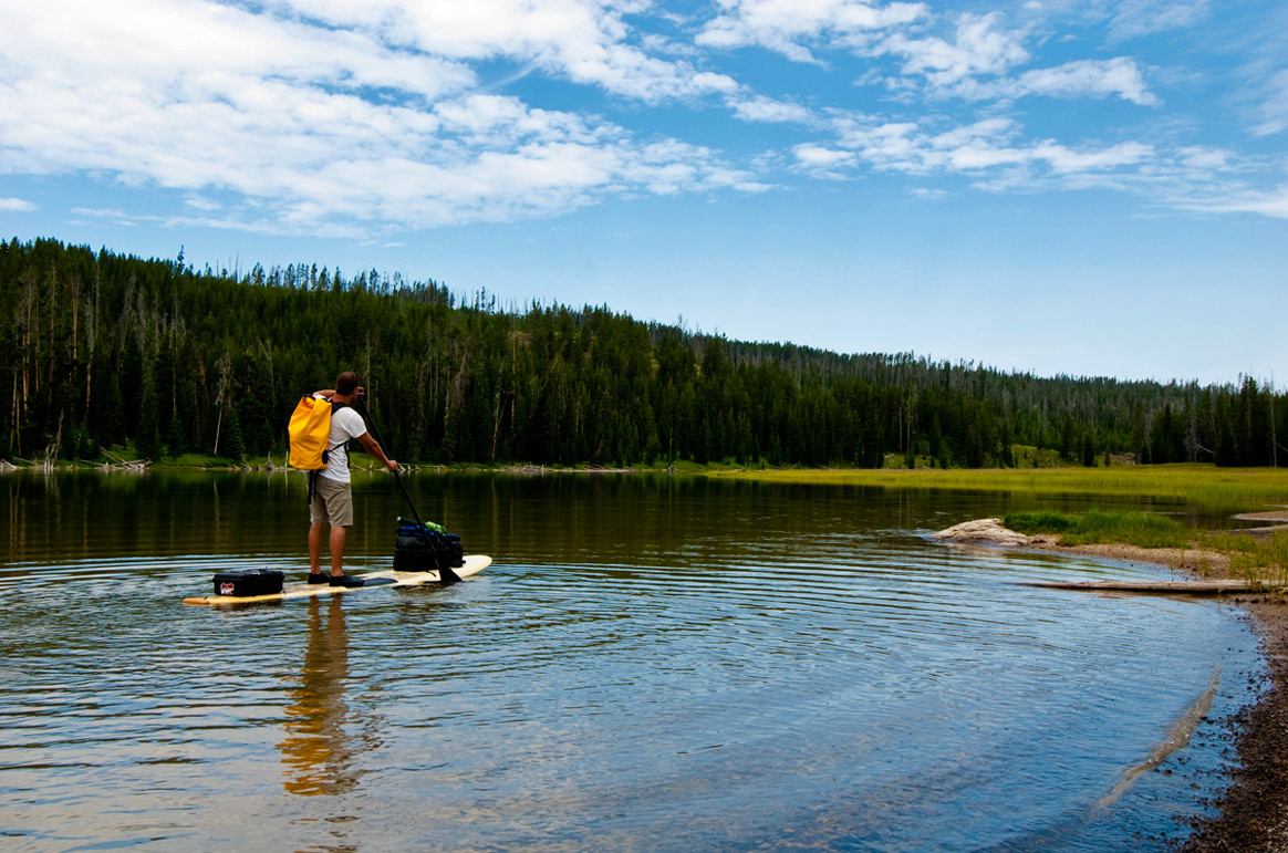 Stand Up Paddleboarding Yellowstone National Park